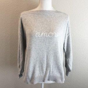 LOFT boatneck sweater sz L